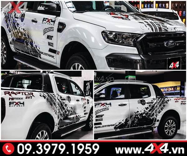 Tem dán xe Ranger: Mẫu tem dán Raptor độc và đẹp dành cho xe Ranger Wildtrak, XLS, XLT 2018 2019