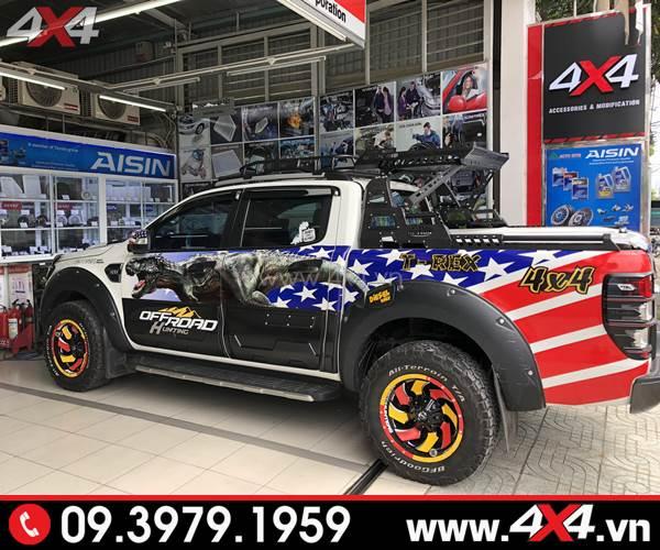 Tem dán xe Ranger: Chiếc bán tải Ford Ranger 2017 2018 2019 lên tem trùm Aventure cực độc