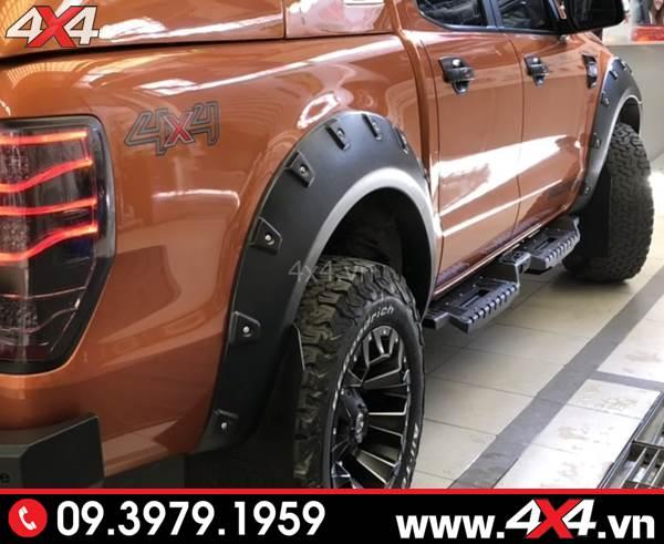 Bệ bước chân Ford Ranger: Gắn thêm bệ bước Open xe Ranger sẽ đẹp và cứng cáp hơn nhiều