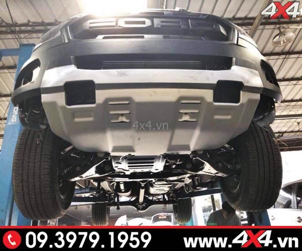 Body kit Ford Ranger Raptor độ cho XLT XLS, Wildtrak phần ốp gầm