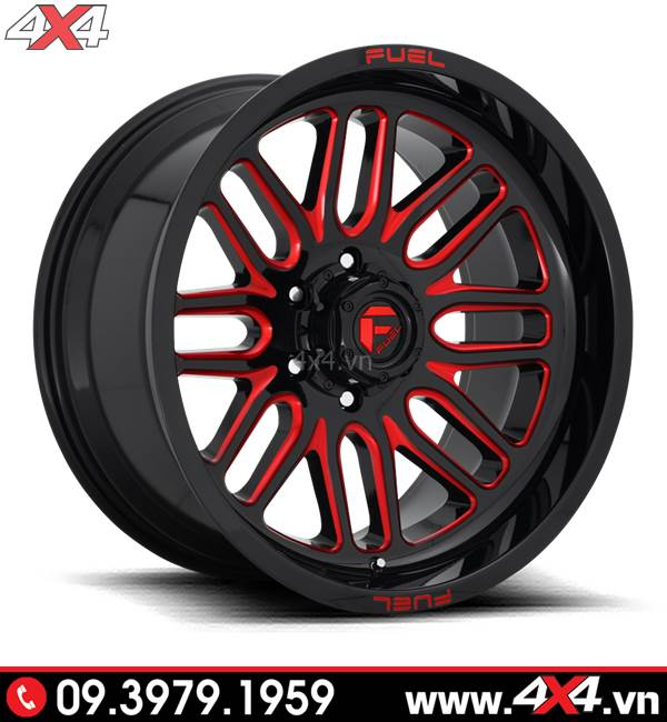 Độ mâm xe Ford Ranger: Mâm Fuel Ignite màu đỏ đẹp và đẳng cấp độ xe bán tải