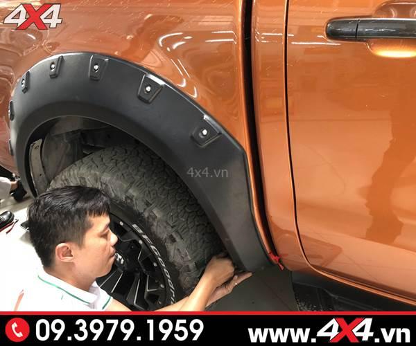 Ốp viền bánh xe Ranger loại có đinh độ đẹp và ngầu
