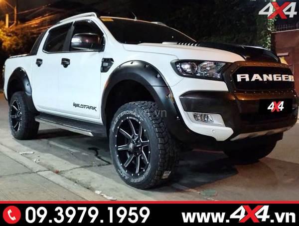 Ốp viền bánh xe Ford Ranger loại lõm có đinh độ đẹp, ngầu và cứng cáp