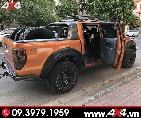 Ốp viền bánh xe Ranger loại răng cưa FITT Thái Lan độ cho xe bán tải Ford Ranger