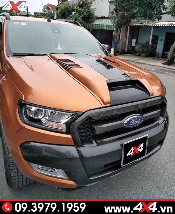 Mẫu ốp nắp capo Ford Ranger mẫu Thái Lan độ đẹp và cứng cáp cho xe bán tải Ford Ranger