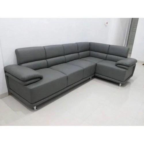 l shape grey sofa set