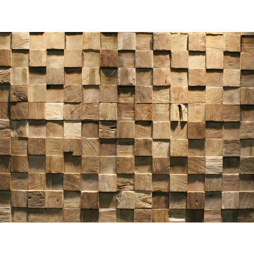 Brown Teak Wood Wall Tiles Rs 70 Square Feet Ganesh Marbles Id 16458866812