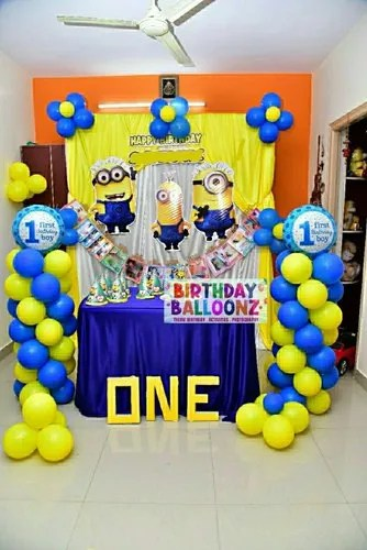 Minions Theme Birthday Party Home In Bangalore Rs 3200 Set Id 22600420991