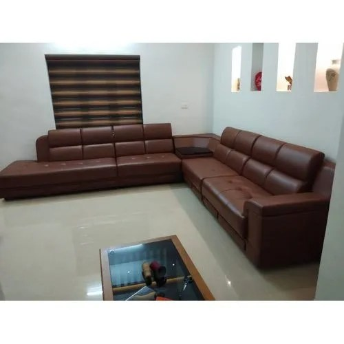 leather corner sofa set