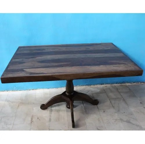 new design modern center leg with carving work rose sheesham wood dining table