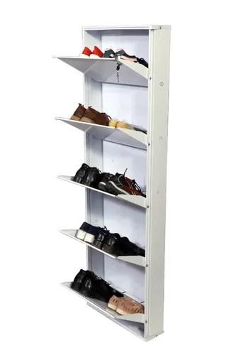 wall mounted metal shoe rack