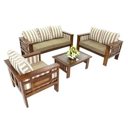 Wooden Modern Living Room Sofa Set, Wooden Living Room Furniture Sets