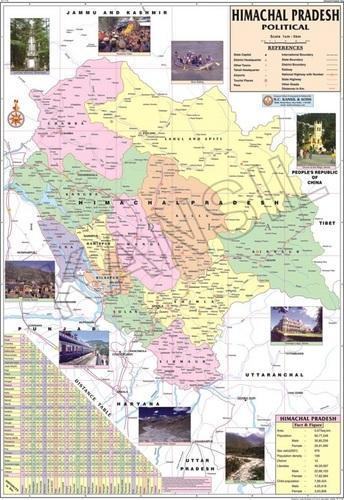 Himachal Pradesh For Political State Map at Rs 130  piece     Himachal Pradesh For Political State Map