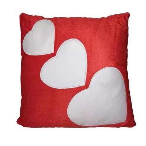 3 heart square pillow