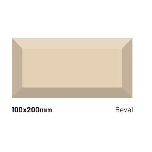 100 x 200 mm bevel ivory subway ceramic wall tiles