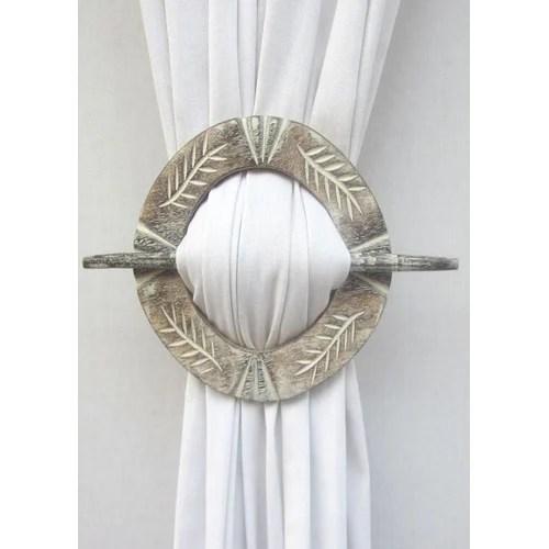 circle curtain tie back