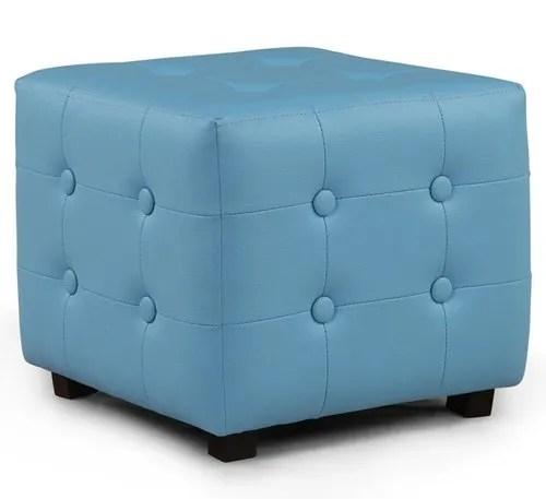 arra candy square ottoman blue blue