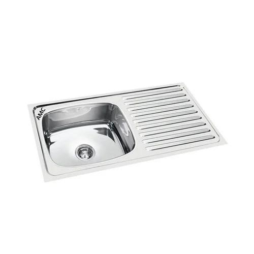 single bowl drain board sink
