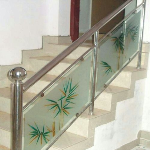 Stainless Steel Stair Glass Railing At Rs 650 Running Feet   Glass Railing For Stairs Price   Railing Systems   Cable Railing   Alibaba   China   Wood