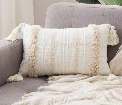 handwoven boho pillow covers tassel