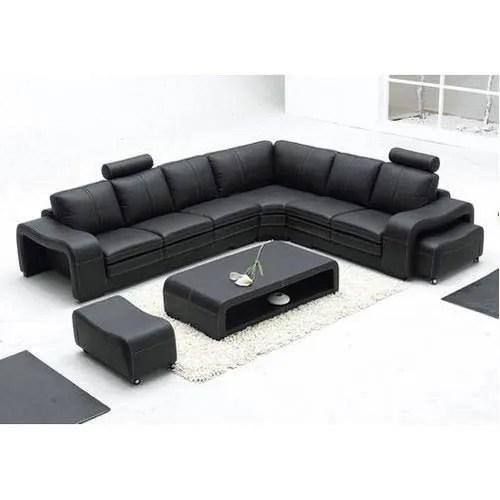 black l shaped sofa set