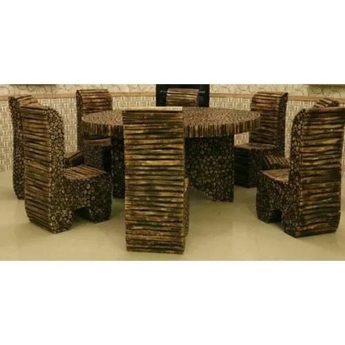 log dining table set