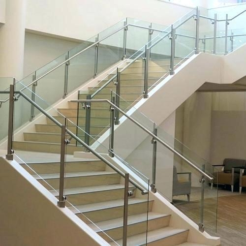 304 Grade Stainless Steel Glass Railing Rs 5000 Piece | Glass Balusters For Stairs