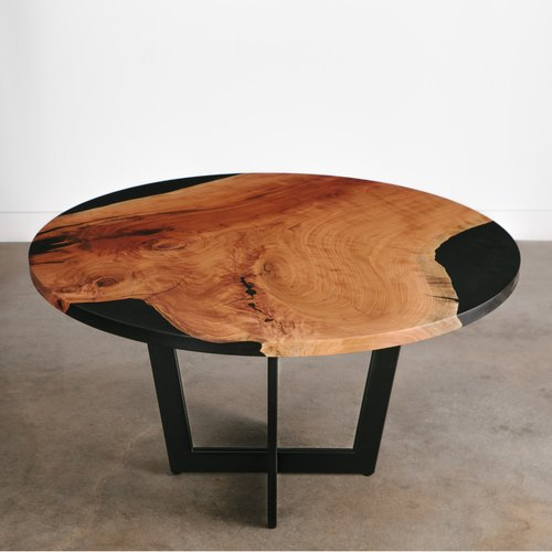 live edge round slab side table coffee table
