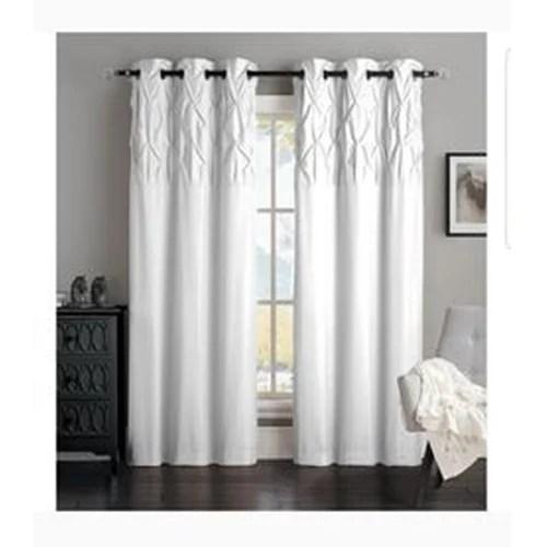 designer white curtain