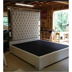 double bed with headboard storage
