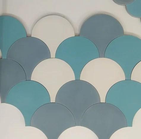 scallop cement tiles