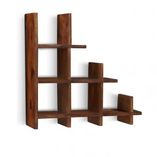 Brown Open Storage Wooden Wall Rack Size 3x3 Feet For Home Rs 2500 Unit Id 5696315148