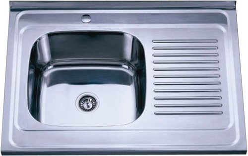 single bowl sink with single drain board