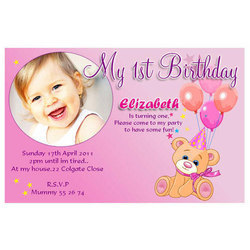 birthday invitation cards models card