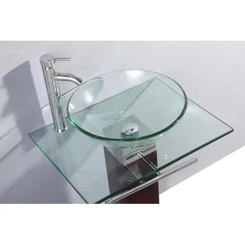 transparent wash basin