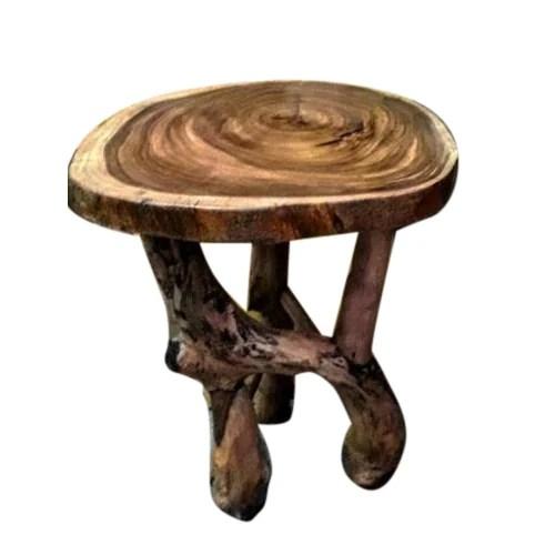 rustic round stool