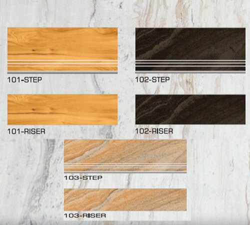 3 25 feet vitrified step riser wood look tile