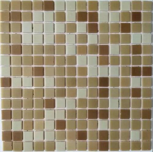 glass mosaic tile bathroom and pillar