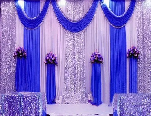 wedding stage backdrop curtains