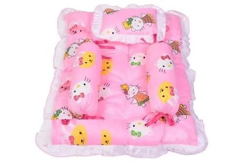 newborn baby bedding set mattress gaddi set with baby pillow 2 side bolester set 0 6 months