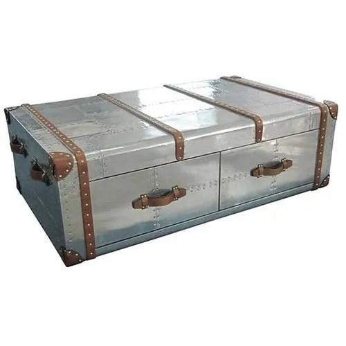 aviator trunk coffee table