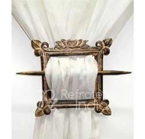 gorgeous wooden curtain tieback