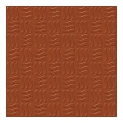 wave terracotta parking tiles