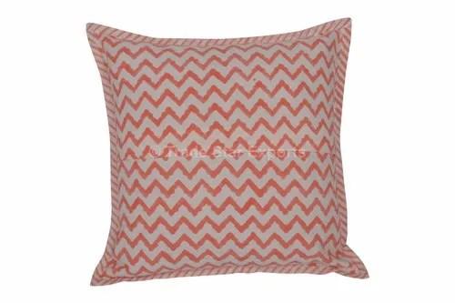 indian cotton cushion cover 16x16 handblock printed pillow cover block printed cotton cushion cover