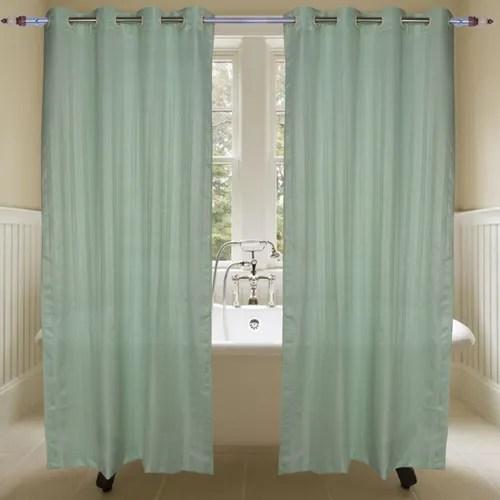plain green shower curtain