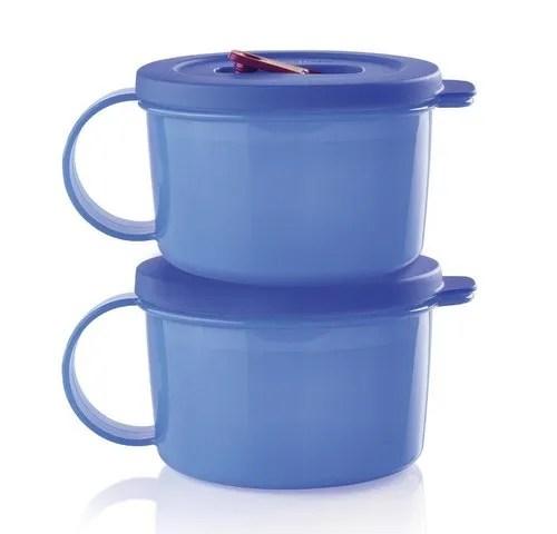 tupperware crystal wave plus soup mugs