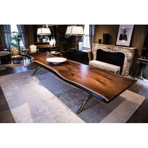 live tree wood dining table