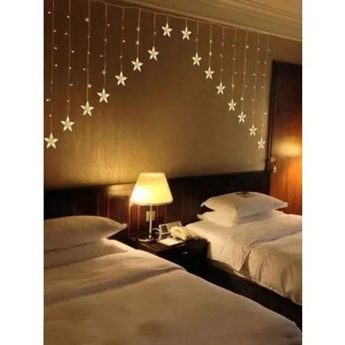 bedroom led curtain light