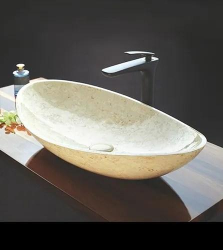 cream marble wash basin