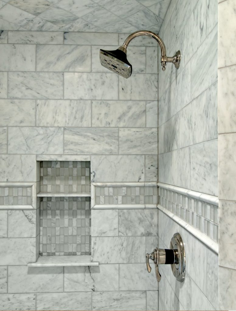 Tile shower installation